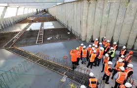excavation of new Manukau railway station