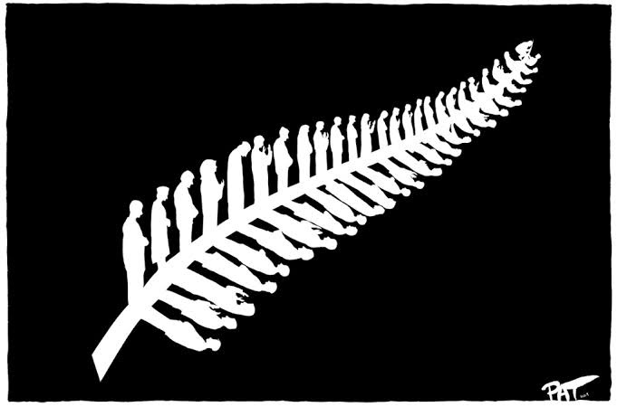 silver fern representing the 50 lives lost