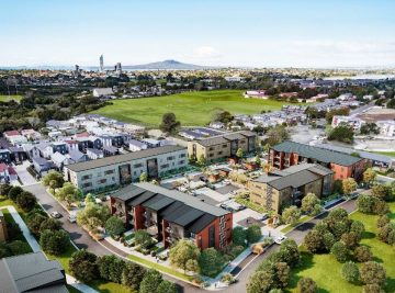 aerial picture of northcote, north shore in two years time.